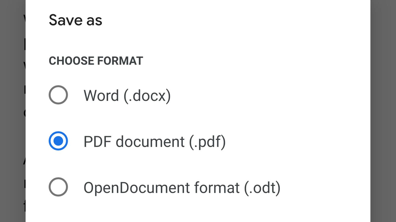O Google Docs pode salvar arquivos em formato PDF para você