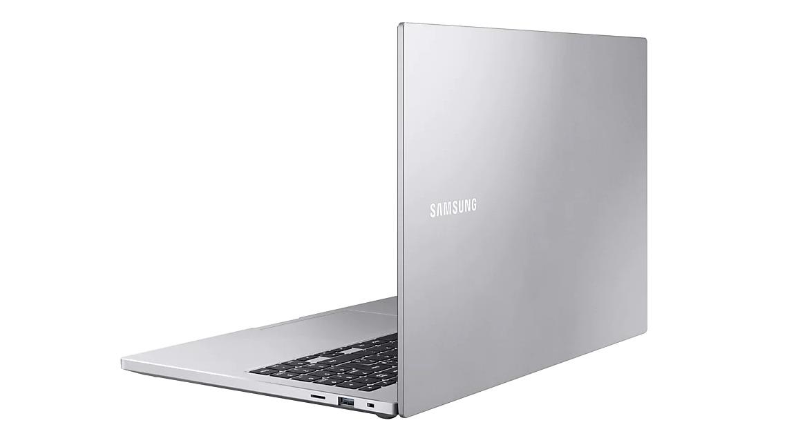 Detalhe da tampa do Samsung Book X55