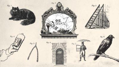 Imagens antigas de várias superstições