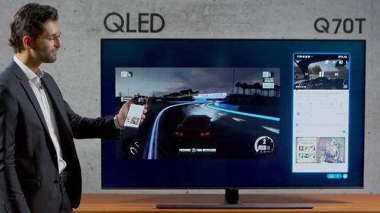 Recurso de tela dividida das novas TVs QLED 4K da Samsung