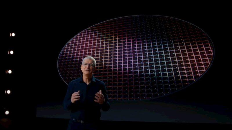Tim Cook, CEO da Apple, anuncia a mudança para arquitetura ARM, na WWDC 2020.
