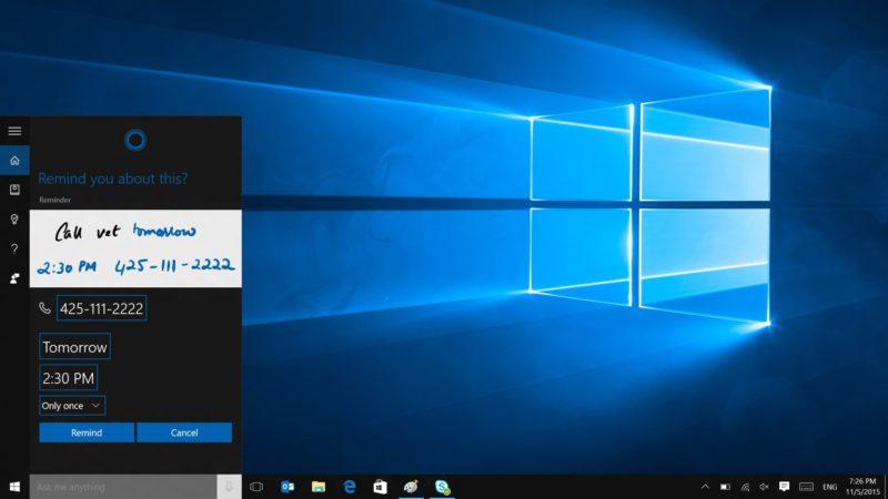 Área de trabalho do Windows 10