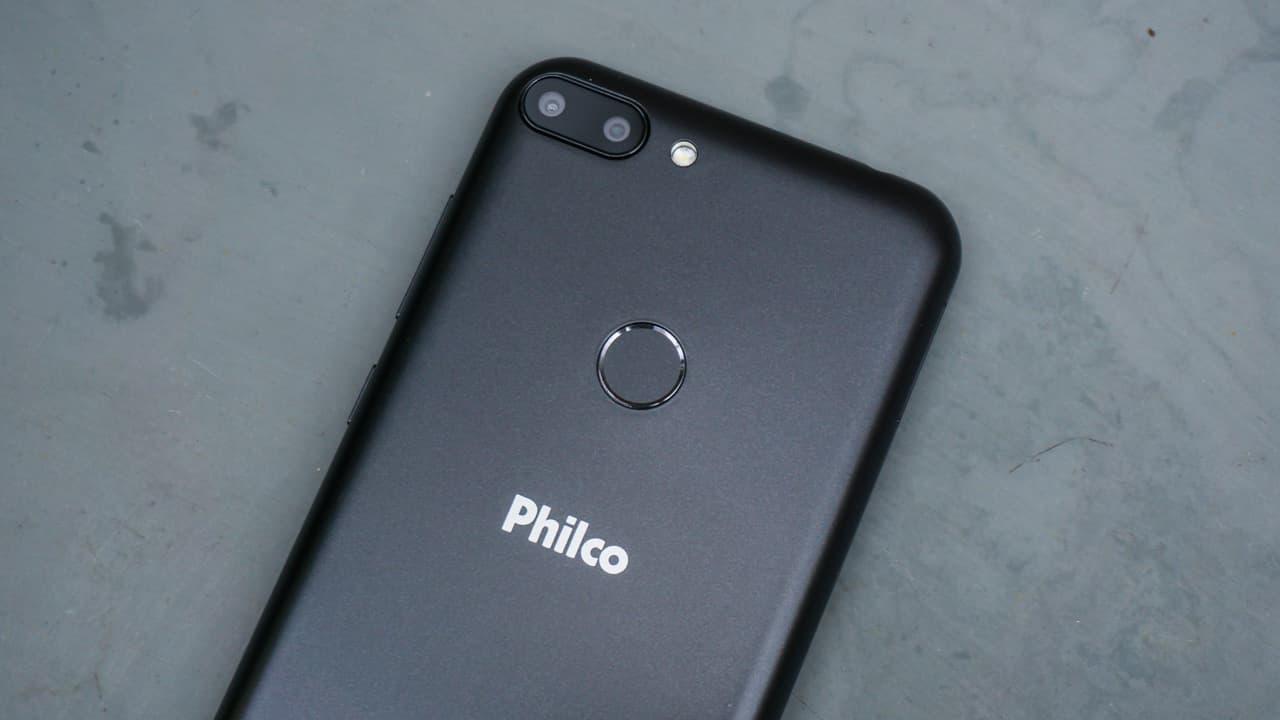 Detalhe da câmera do Philco Hit PCS01