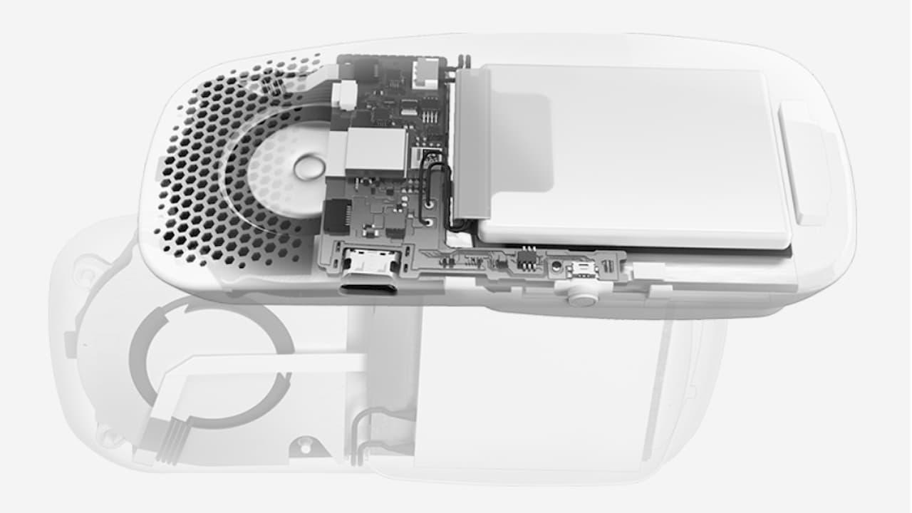 Visão dos componentes do Sony Reon Pocket