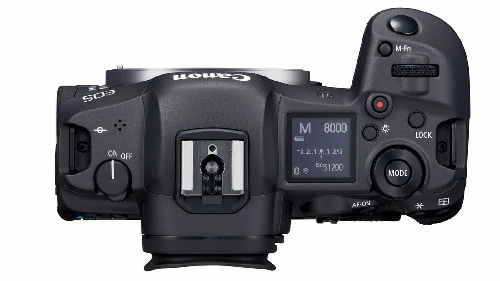 Parte de cima da Canon EOS R5