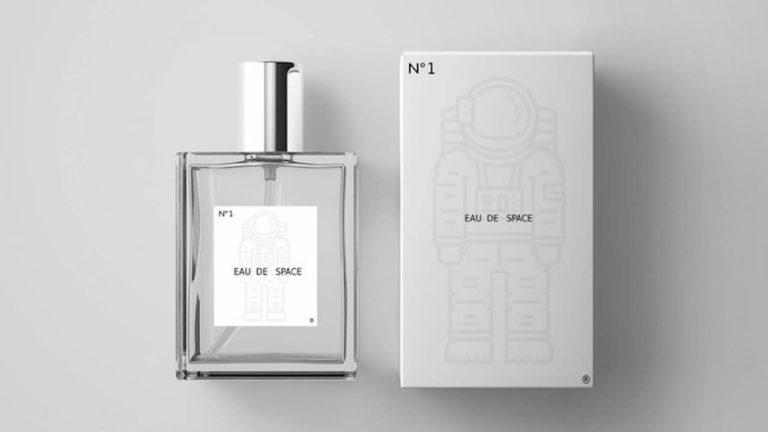 A caixa do Eau de Space, perfume com cheiro do espaço