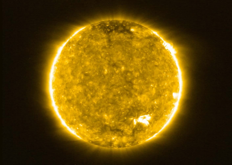 Imagem do Sol feita pelo solar orbiter. Crédito: Solar Orbiter/EUI Team (ESA & NASA); CSL, IAS, MPS, PMOD/WRC, ROB, UCL/MSSL