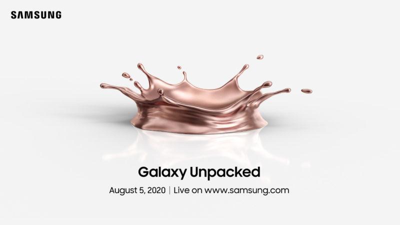 Convite do evento Galaxy Unpacked a ser realizado em 5 de agosto