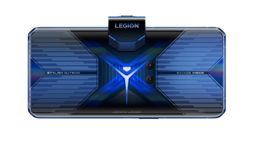 Traseira do smartphone Lenovo Legion Phone Dual tem câmeras centralizadas. Crédito: Lenovo