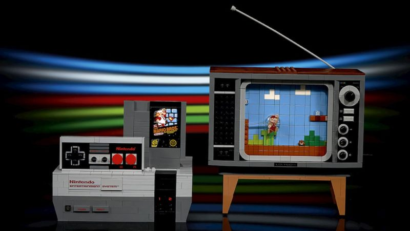Conjunto de Lego recria o NES e Super Mario Bros em uma TV de tubo