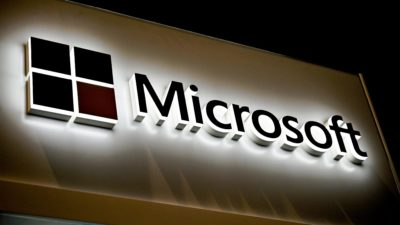 Logotipo da Microsoft. Crédito: Denis Charlet/AFP (Getty Images)