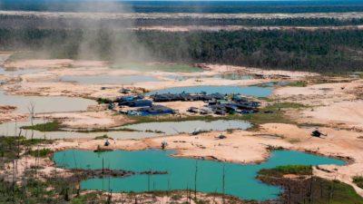 É assim que a mineração ilegal se parece na região de Madre de Dios, no Peru, em 2019