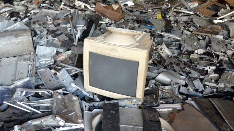 Monitor de tubo em lixo eletrônico. Crédito :Issouf Sanogo/AFP (Getty Images)