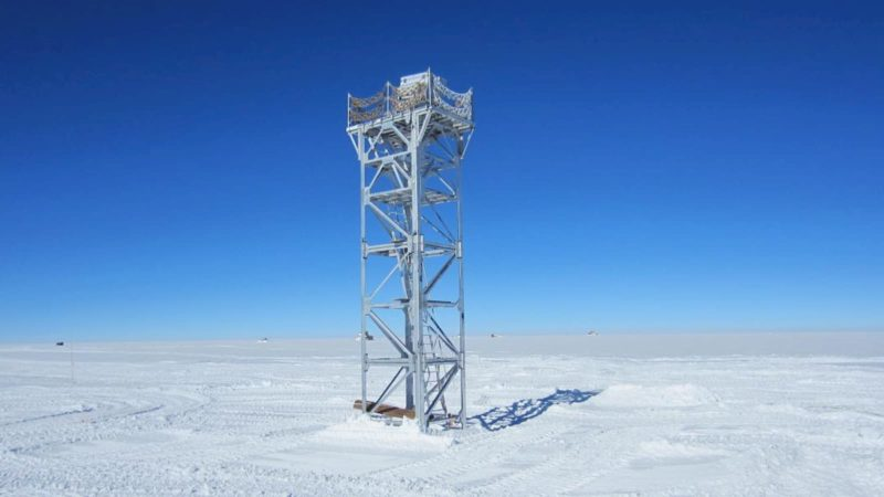 Um monitor de movimento de imagem diferencial que os cientistas utilizavam para observar a turbulência potencial nos céus antárticos