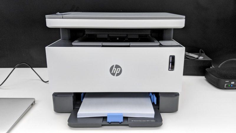 HP Neverstop Laser 1200W. Crédito: Guilherme Tagiaroli/Gizmodo Brasil