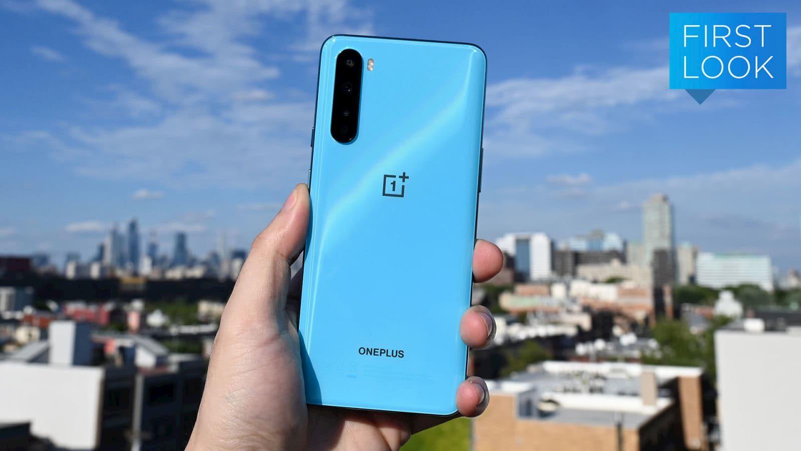 Traseira do OnePlus Nord azul