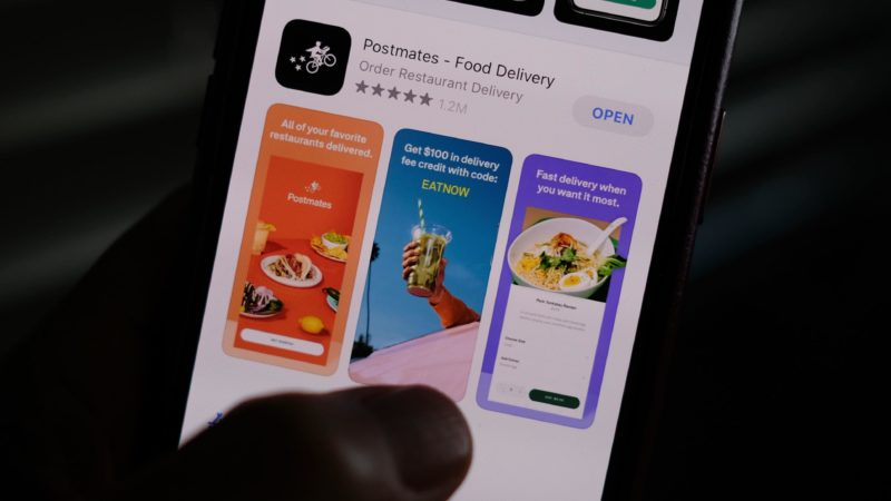 Aplicativo do Postmate. Crédito: Chris Delmas/AFP (Getty Images)
