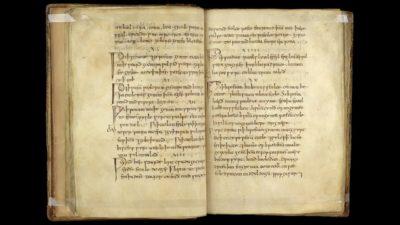 Receita da loção, encontrada em um texto médico anglo-saxão.