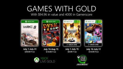 Xbox Live Gold: jogos de julho de 2020