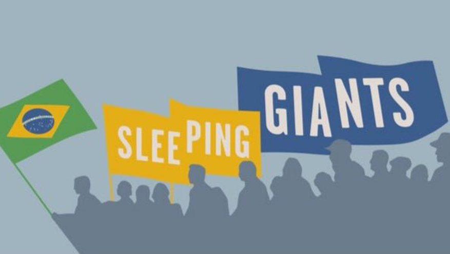 Logo Sleeping Giants Brasil no Twitter. Crédito: Twitter