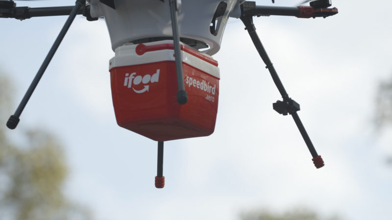 Drone do iFood. Crédito: iFood
