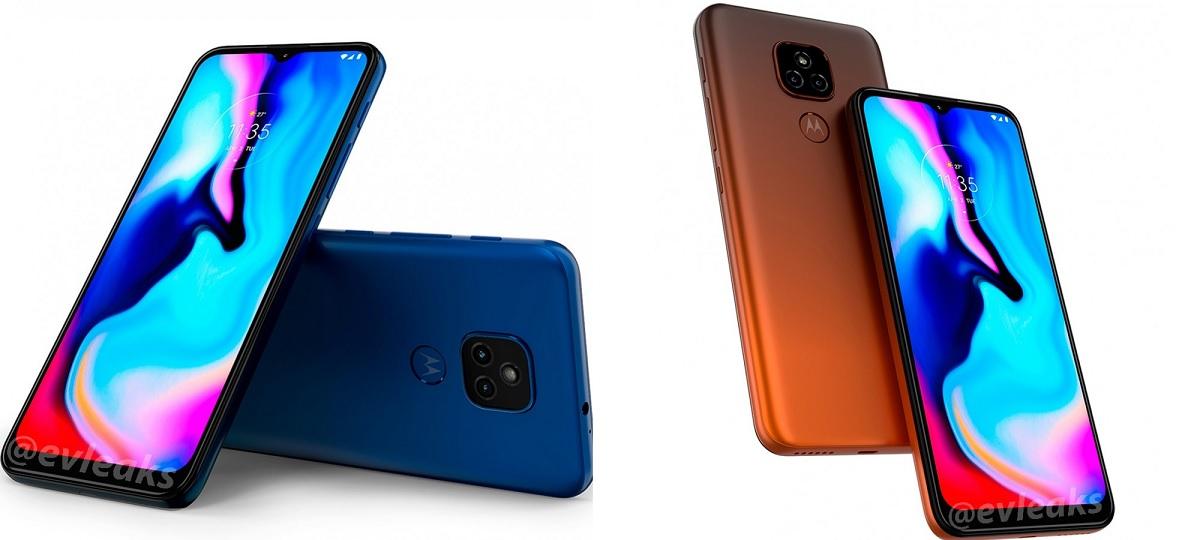 Motorola E7 Plus renderização na cor azul. Crédito: Evan Blass