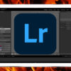Logotipo do Adobe Lightroom com chamas ao redor. Crédito: Gizmodo/PxFuel (In-House Art)
