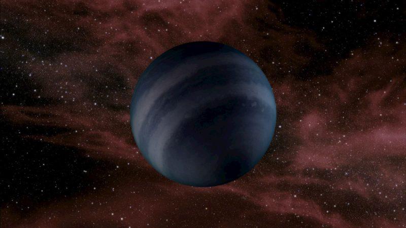 Concepção artística de uma anã marrom escura, que poderia se assemelhar a hipotéticas anãs negras, que estão previstas para existir em um futuro distante.