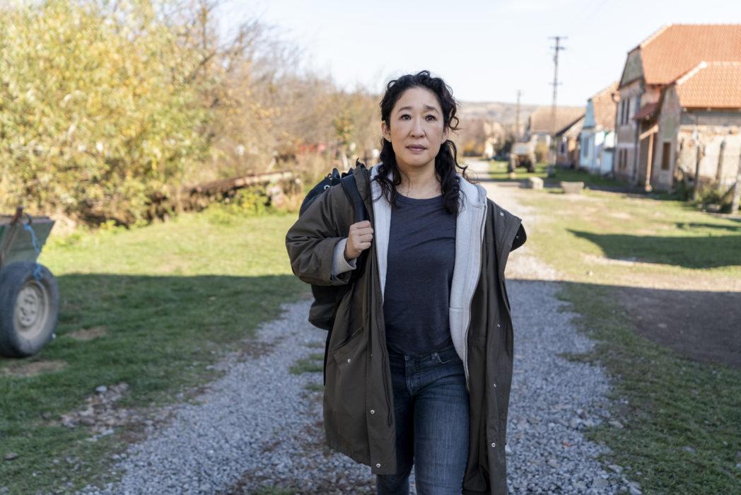 Sandra Oh na série Killing Eve. Crédito: Globoplay