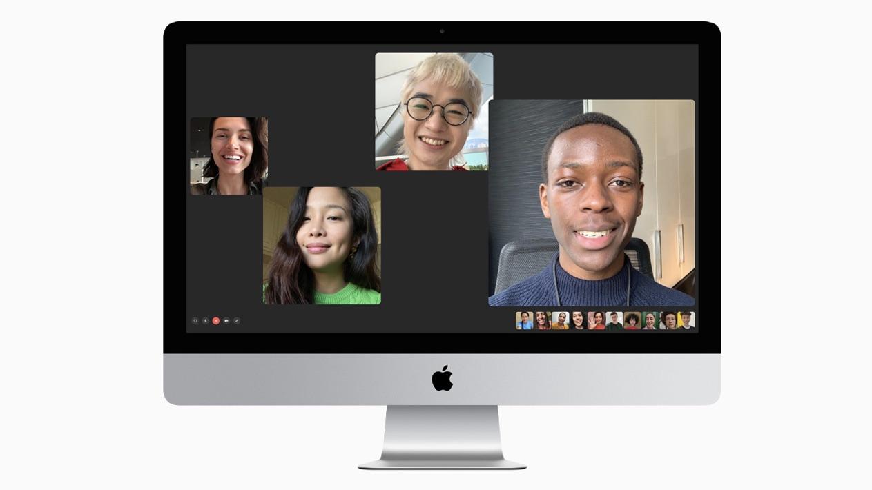 FaceTime em um iMac; pela primeira vez, computador vem com câmera Full HD. Crédito: Apple