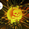 Ilustração de um bola com um desenho de uma caveira, representando um elemento químico perigoso. Ilustração por Angelica Alzona/Gizmodo
