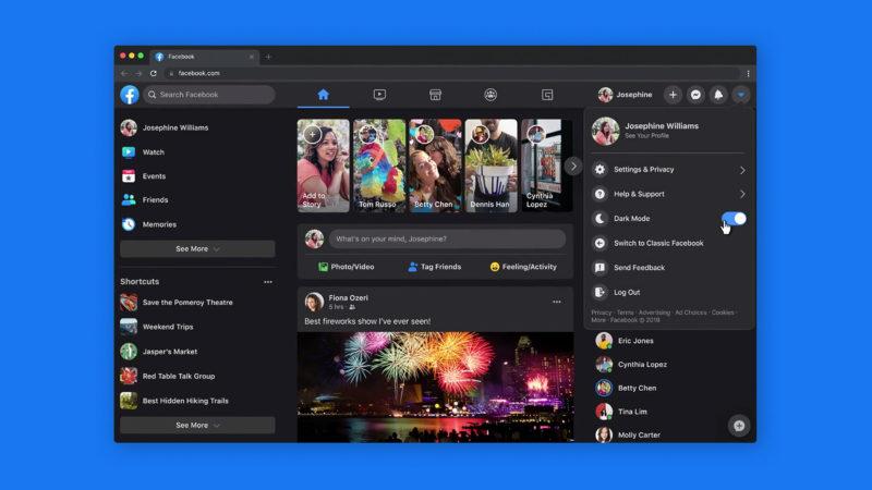 Nova interface do Facebook web será obrigatória em setembro. Crédito: Facebook