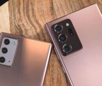 Detalhe da câmera do Galaxy Note 20 e Note 20 Ultra. Crédito: Sam Rutherford/Gizmodo