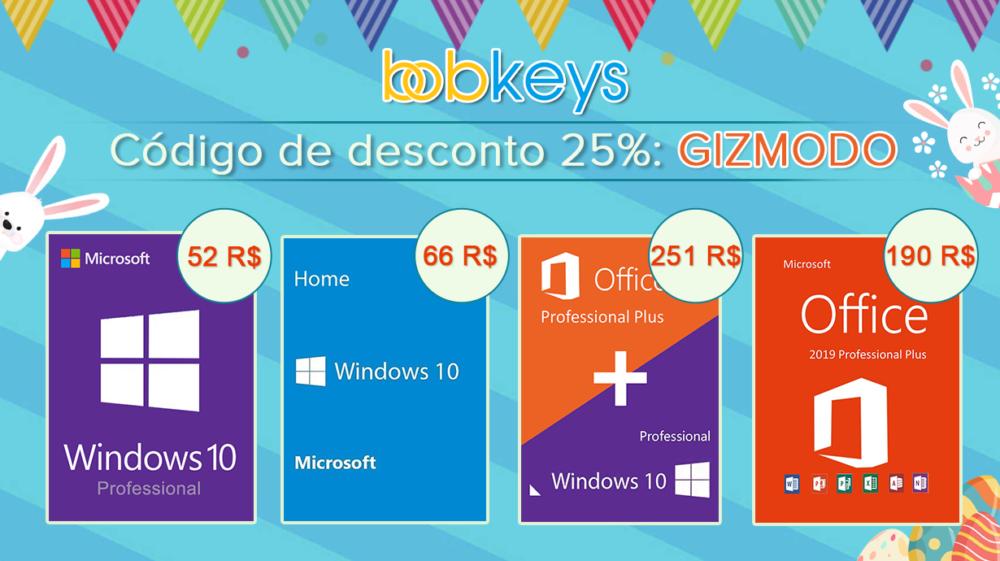 Pacote Office e Windows 10 com 25% de desconto para os leitores do Gizmodo