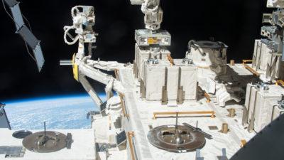 A divisão Kibo na Estação Espacial Internacional, onde foi feito o experimento que durou três anos. Crédito: JAXA/NASA