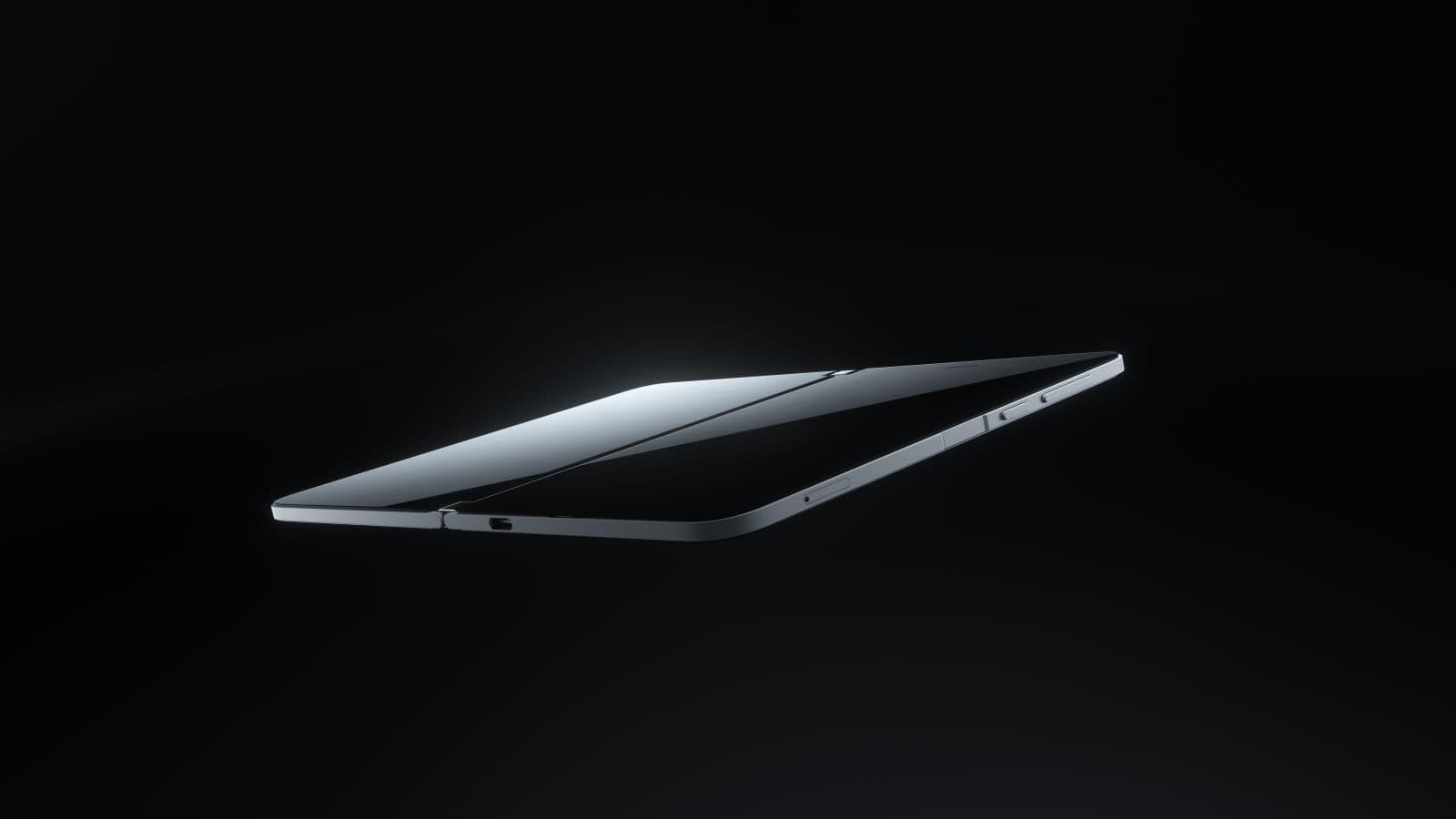 Junto com um botão de bloqueio e de volume, o Surface Duo também tem um leitor de impressões digitais na lateral