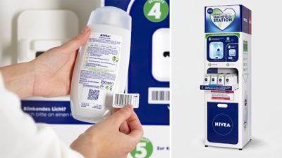 Embalagem reutilizável da Nivea