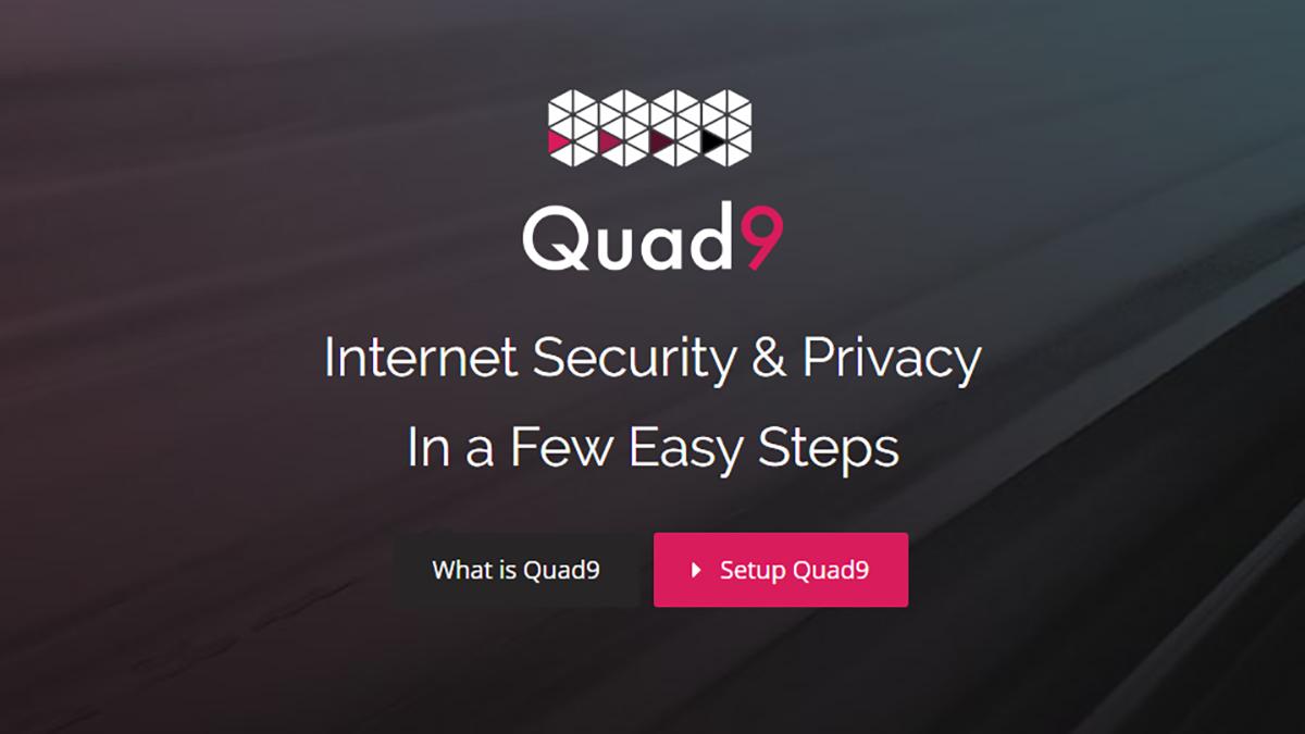 Interface do Quad9. Crédito: Captura de tela