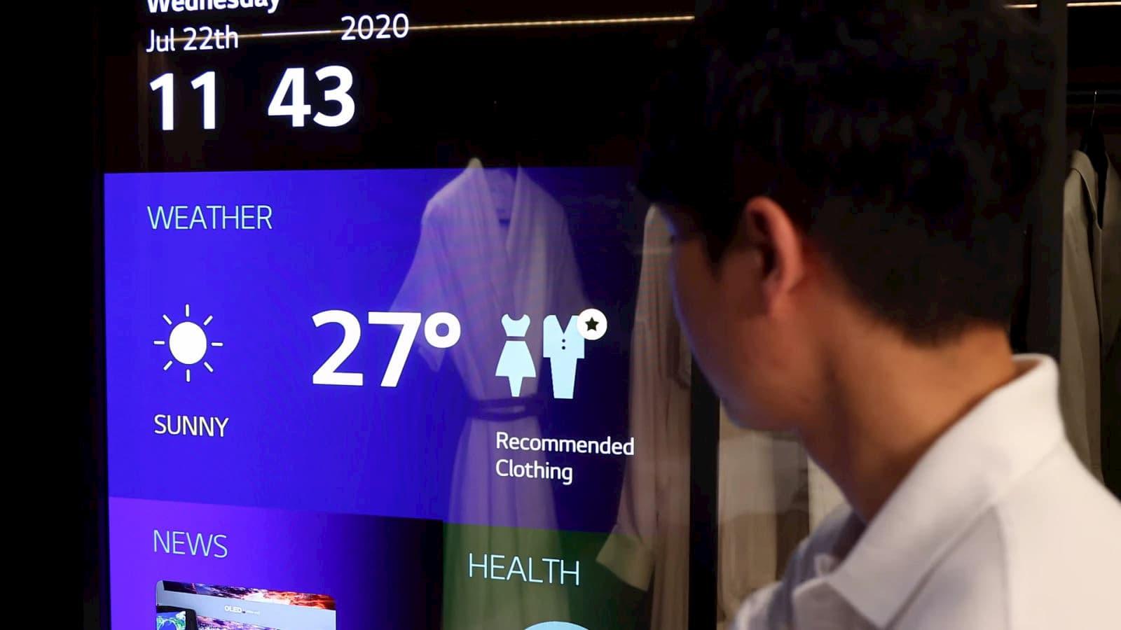 Conceito de tela transparente da LG
