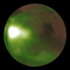 Céu noturno de Marte é observado em luz ultravioleta. Crédito: NASA/MAVEN/Goddard Space Flight Center/CU/LASP