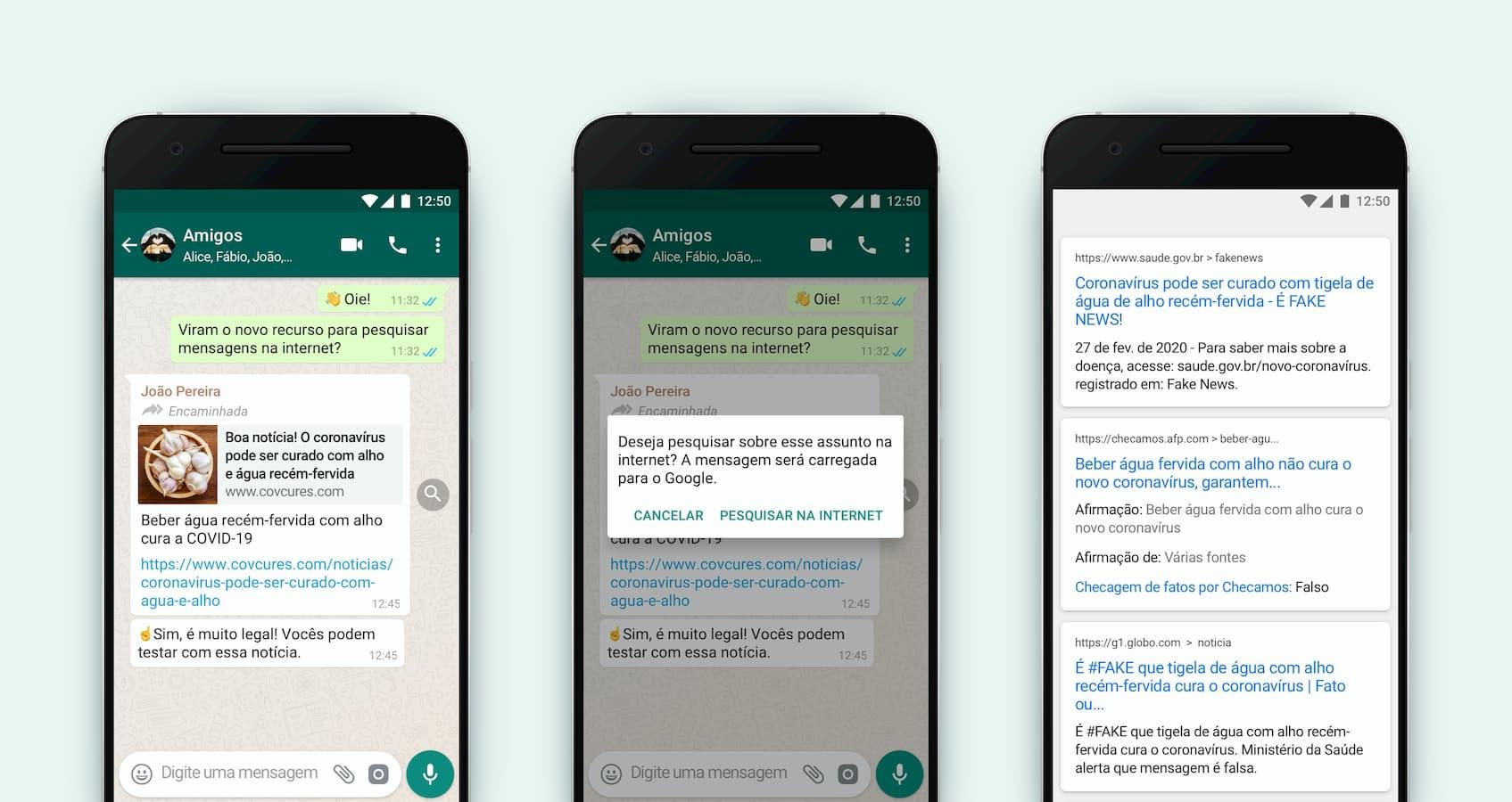 WhatsApp demonstra recurso de pesquisa dentro do aplicativo