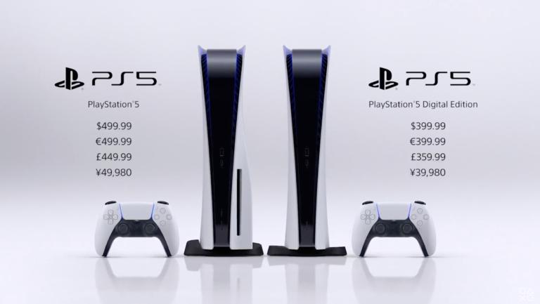 PlayStation 5 chega ao mercado em novembro em versões de US$ 400 e US$ 500