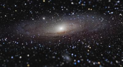 Esta foto da galáxia de Andrômeda foi a vencedora geral do concurso neste ano. Imagem: Nicolas Lefaudeux (França)