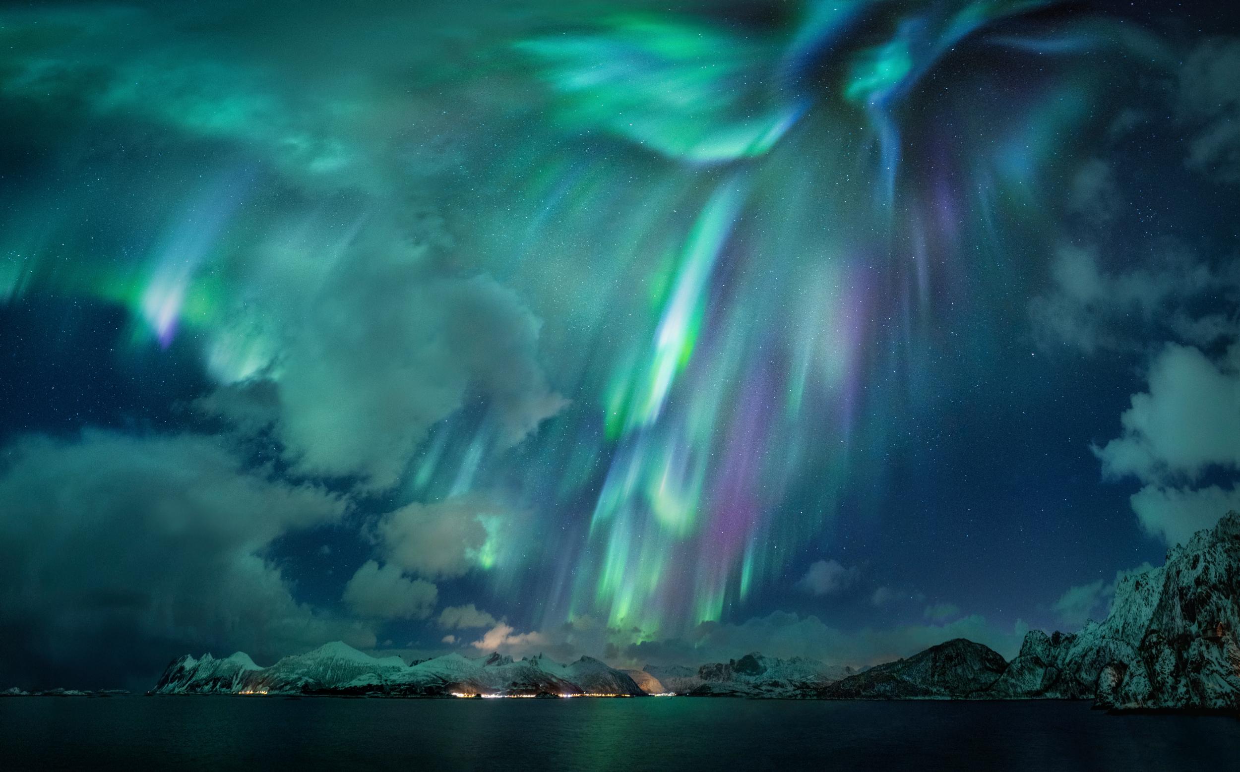 Imagem vencedora na categoria aurora. Crédito: Nicholas Roemmelt (Alemanha)
