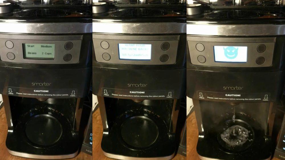 Esta cafeteira hackeada exige pagamento de resgate e demonstra o risco da internet das coisas