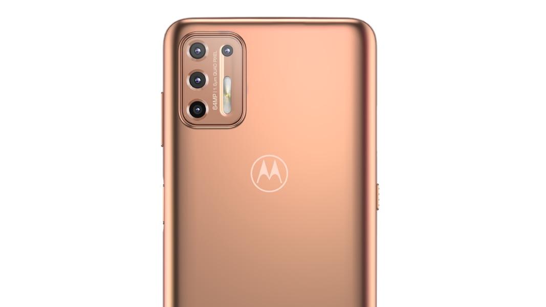 Detalhe das câmeras do Moto G9 Plus