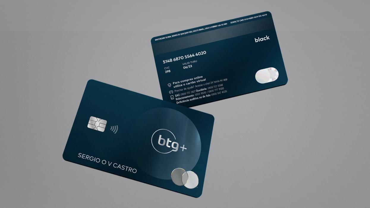 Cartão Black do BTG+