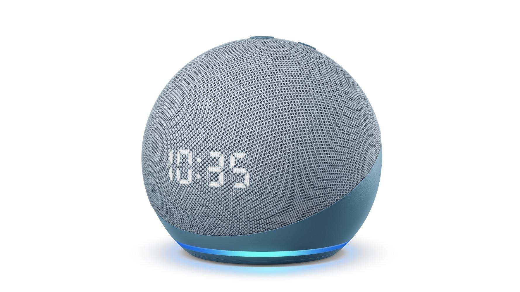 Echo Show com relógio 2020