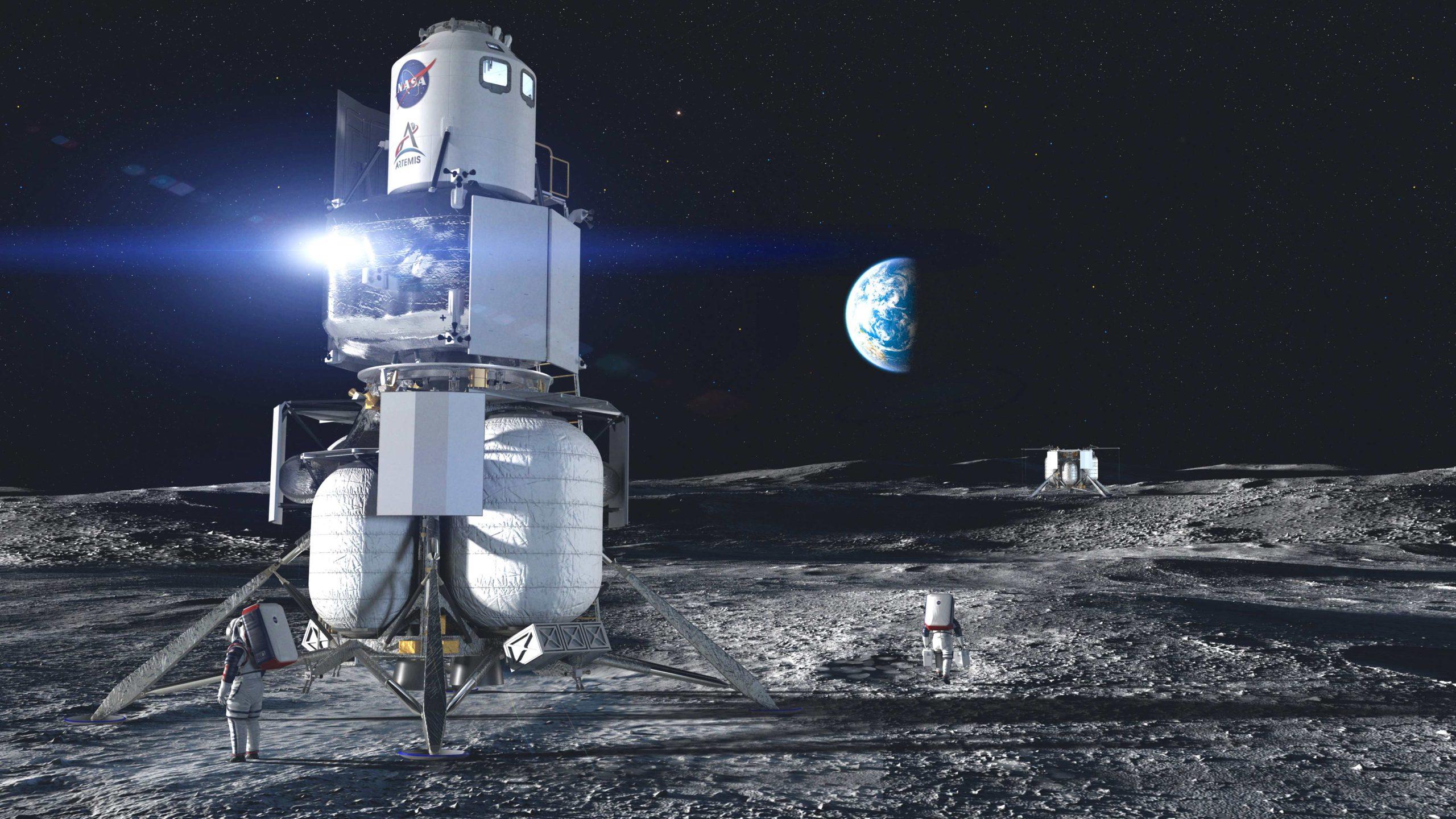 Imagem conceitual da sonda da Blue Origin. Crédito: Blue Origin