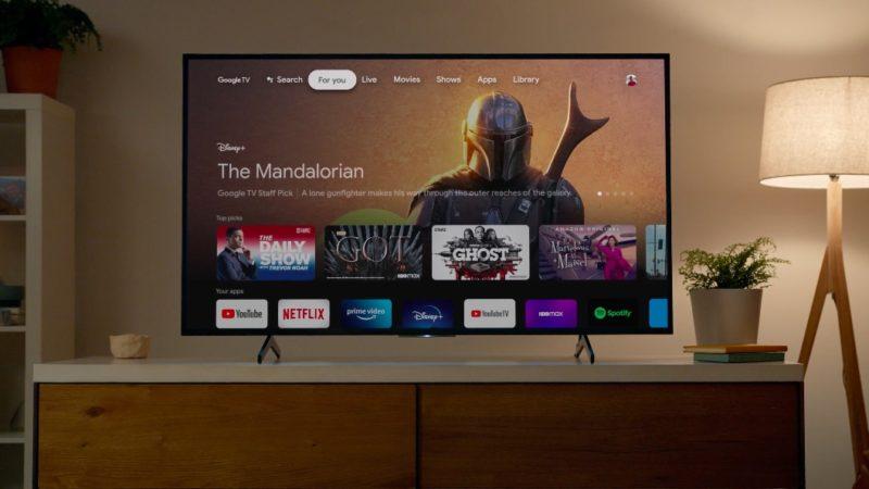 Nova interface do Google TV